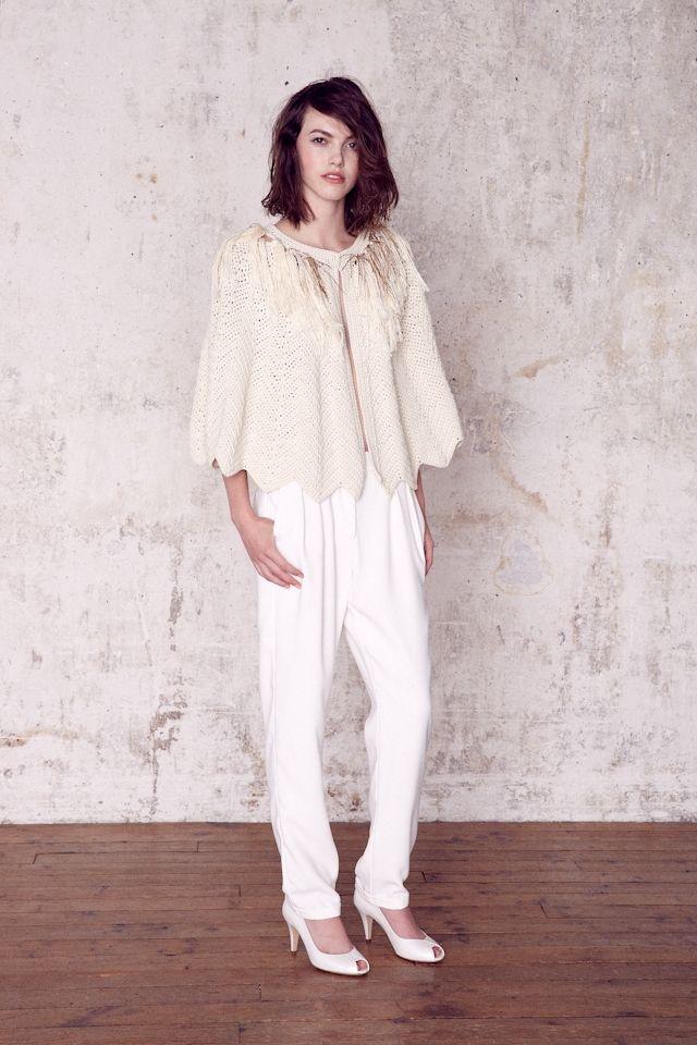 Pantalon et petite cape en laine de mariée signée Sessun OUI collection mariage 2015 - La Fiancée du Panda blog Mariage et Lifestyle