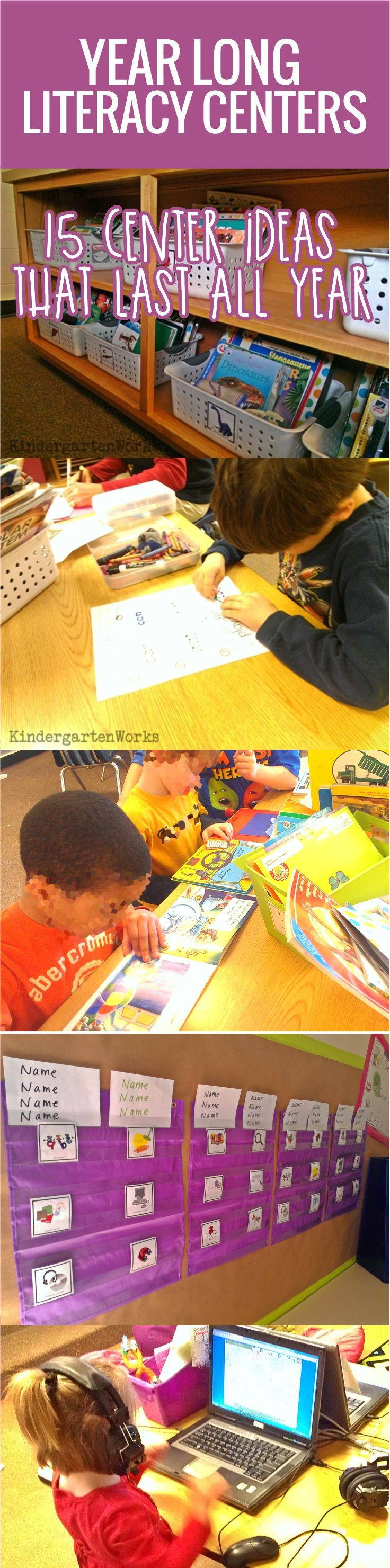 Literacy centers can be a blessing or a pain. I think it all hinges on the design, organization and effectiveness behind them that makes a difference. This is my philosophy on how to create literacy centers that are smart for me, the teacher, and effective for my kindergarten students