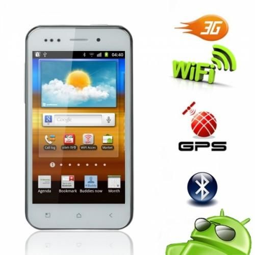 Android 4.0 Dual SIM Unlocked White Phone