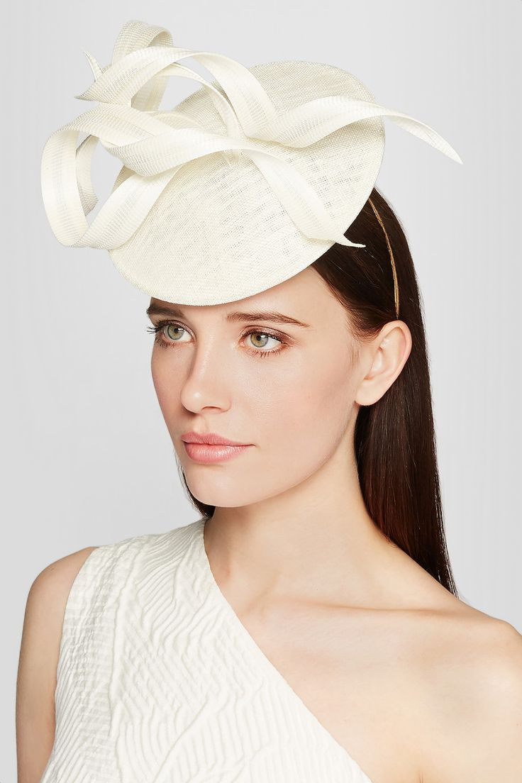 PHILIP TREACY Sinamay and buntal straw headpiece: ivory straw Comb fastening 100% straw Spot clean Made in the UK