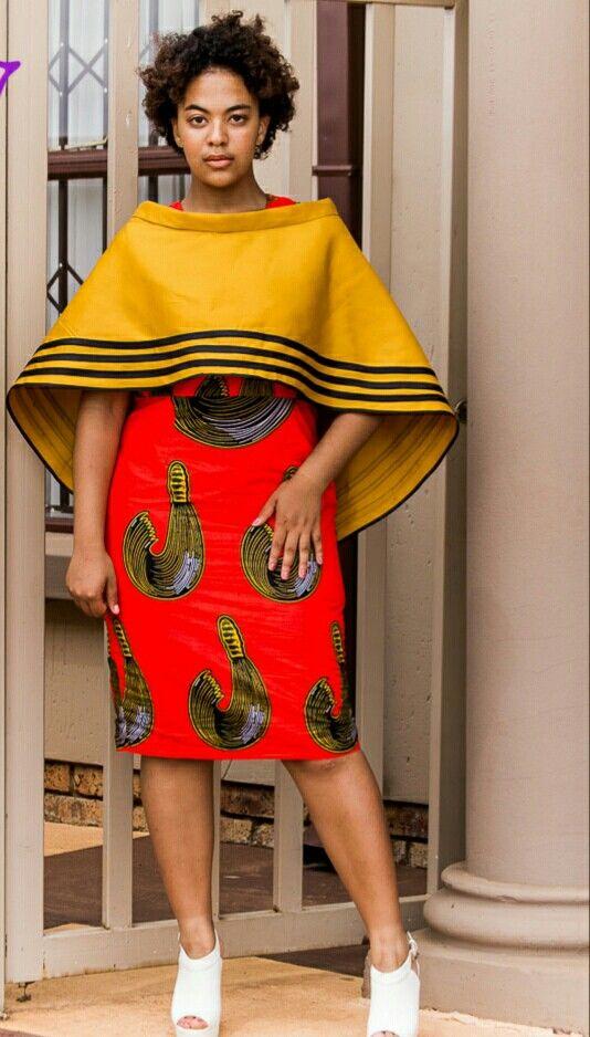 kurvig afrikansk kostym