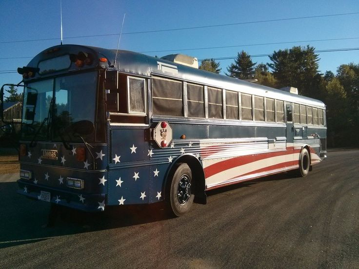Base Vehicle: 1993 Thomas Safe-t-liner ER Cat 3116 250hp Allison Auto MT643 83 passenger (40ft) Air Brakes, Air door, air seat! Raised roof. Roof soundproofing the whole length of the bus. Converted by previous owner, and remodeled by me. 2 x 40gal Fresch Water tanks under the bed 1 x 40gal grey water underneath (outside)…