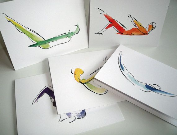 10 Pilates Notecards by LindsaySatchell on Etsy, $28.50 http://infinityflexibility.com/wp/