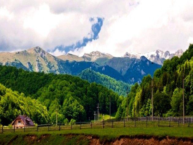 View on the Carpathian Mountains from Cheia town https://www.facebook.com/branding.prahova