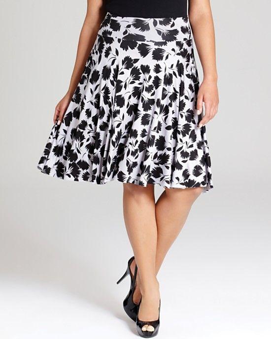 Rachel Pally White Label Plus Full Printed Knee Length Skirt
