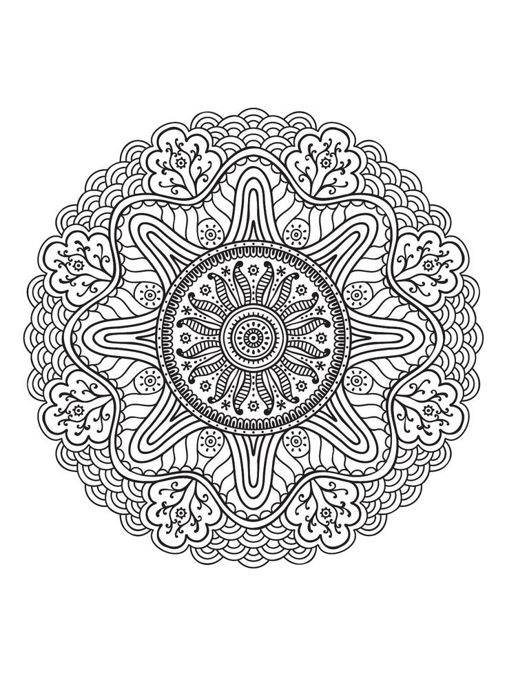 Mindfulness Mandalas No3 Coloring PagesAdult ColoringColoring BooksIslamic PatternsMandala