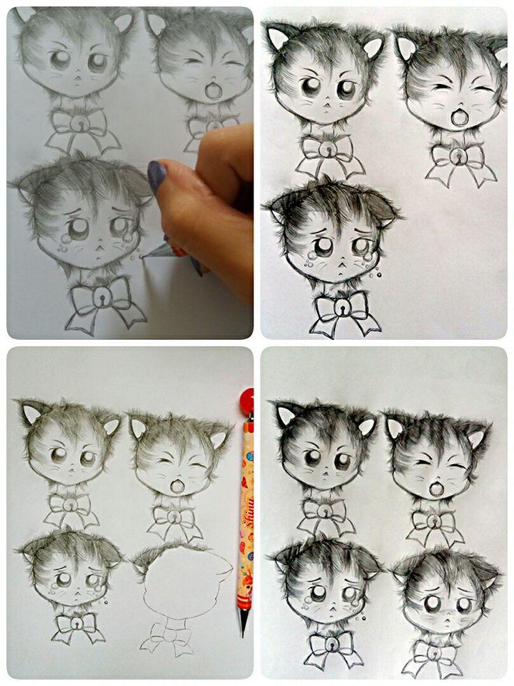 Kitten Progress! @luamiki  #kitten #cat #babycat #cats #neko #drawing #draft #sketch #emoji #expressions