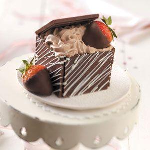 Chocolate Treasure Boxes Recipe from Taste of Home -- Shared by Elaine Nichols of Mesa, Arizona