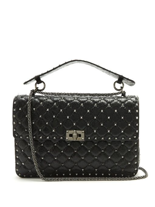 Gabrielle S Amazing Fantasy Closet Valentino Rockstud Spike Large Quilted Leather Shoulder Bag You