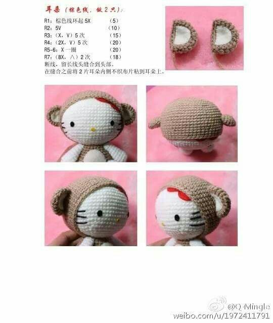 325 besten Hello Kitty Bilder auf Pinterest | Amigurumi, Hallo kitty ...