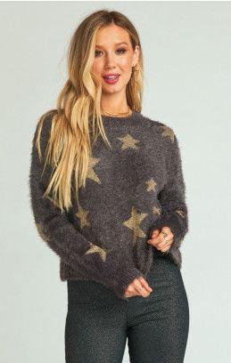 e4081817819 Cropped Varsity Sweater ~ Shine Star Knit