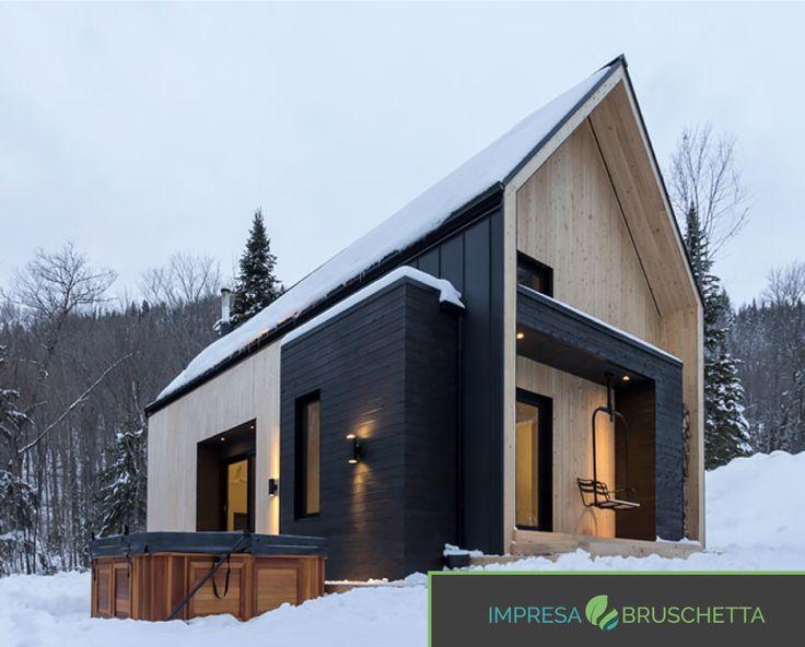 Questa foto da una sensazione di freddo… ma se guardiamo la casa abbiamo una piacevole sensazione di calore…. Questa si chiama magia del legno!!!    http://www.impresabruschetta.it/blog-bruschetta/