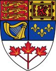 Canadian Coat of Arms Shield.svg tri-maple leaves; fleur-de-lis