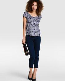 Pantalón capri de mujer Easy Wear en color azul marino · Easy Wear · Moda · El Corte Inglés