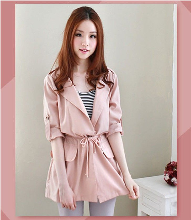 2015 new arrival casual winter women trench coat slim solid turn down collar solid Down long plus size Dust coat
