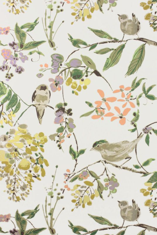 Penglai Coral/Lavender/Green från Nina Campbell