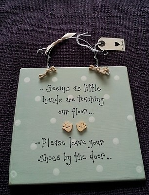 plaque remove shoes handcrafted childminder toddler on eBay!
