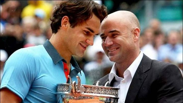 Andre Agassi, Novak Djokovic congratulate Roger Federer!