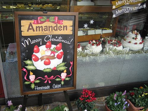 Chalk Sign for Amanden