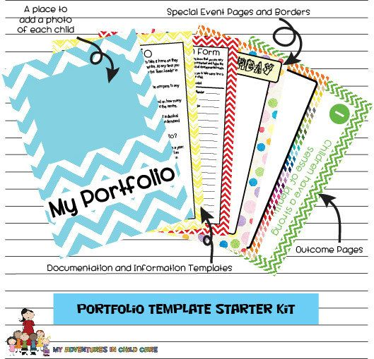 Child Portfolio Templates Starter Kit Pupil Portfolio Ideas