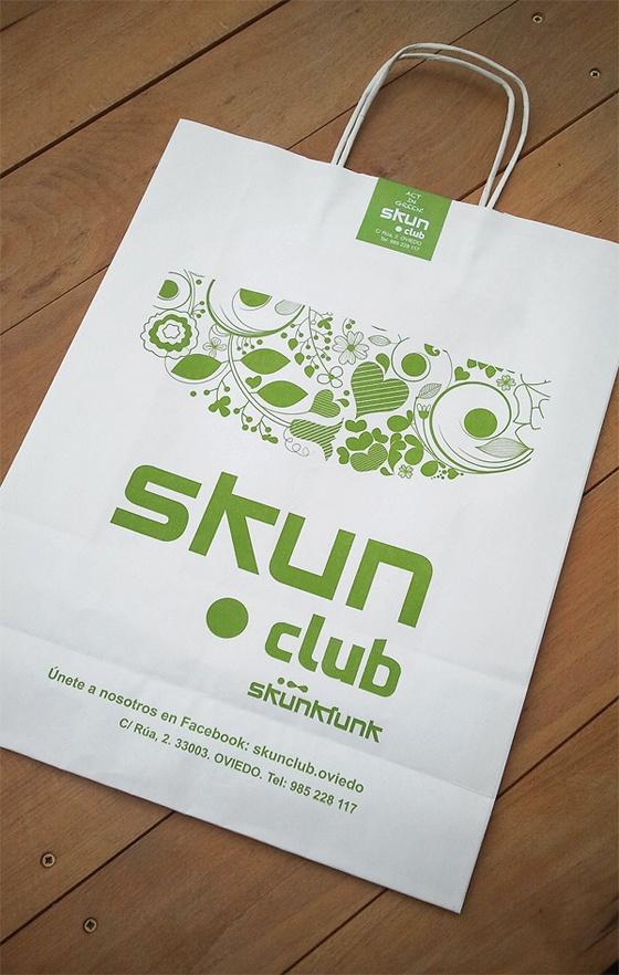 Diseño de bolsa para Skun Club