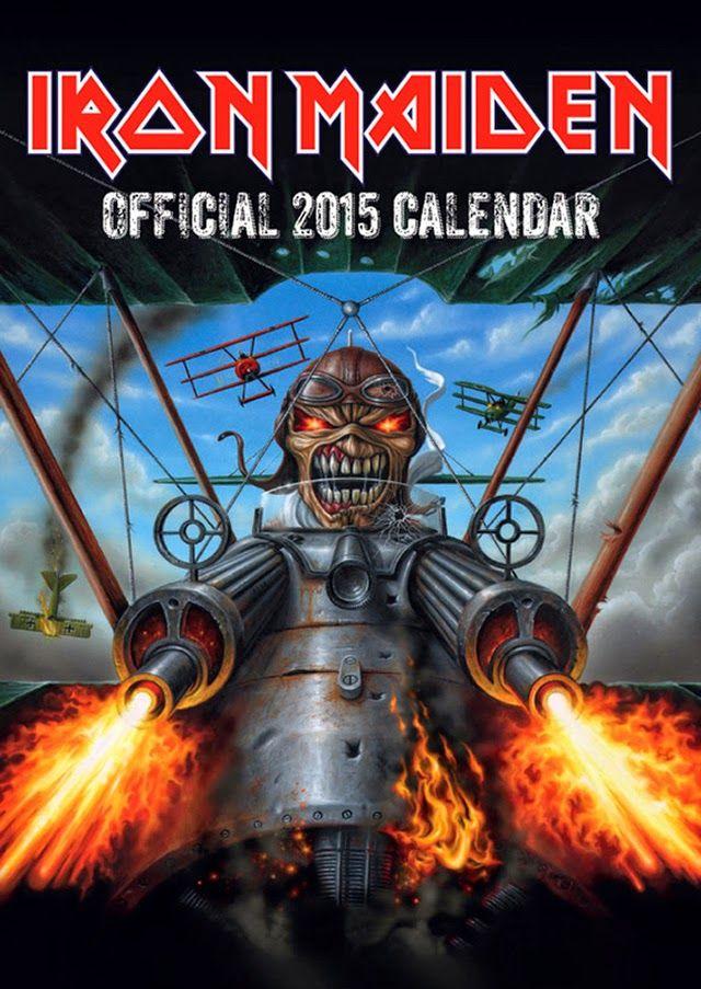 Iron Maiden Shop: Calendário Oficial 2015 ~ IRON MAIDEN 666 - BRASIL