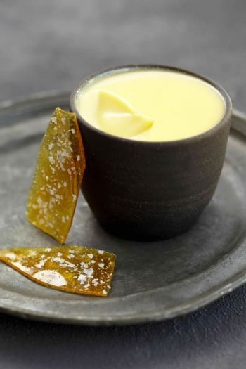 Lemon Creams with Salted Praline