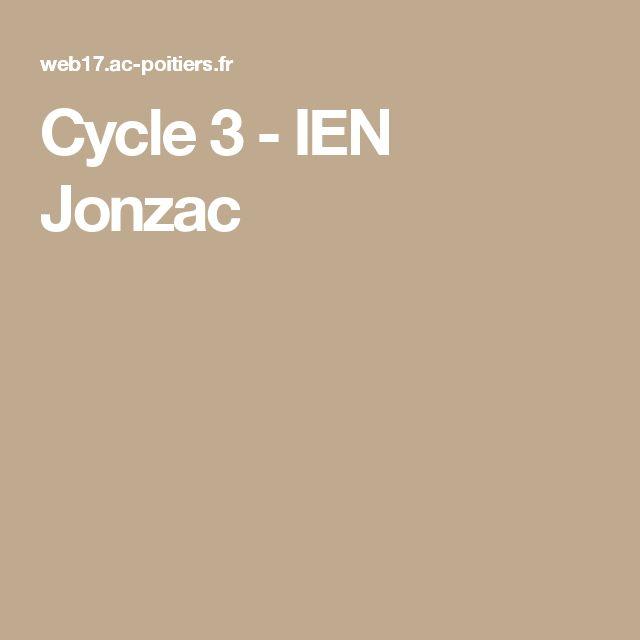 Cycle 3 - IEN Jonzac