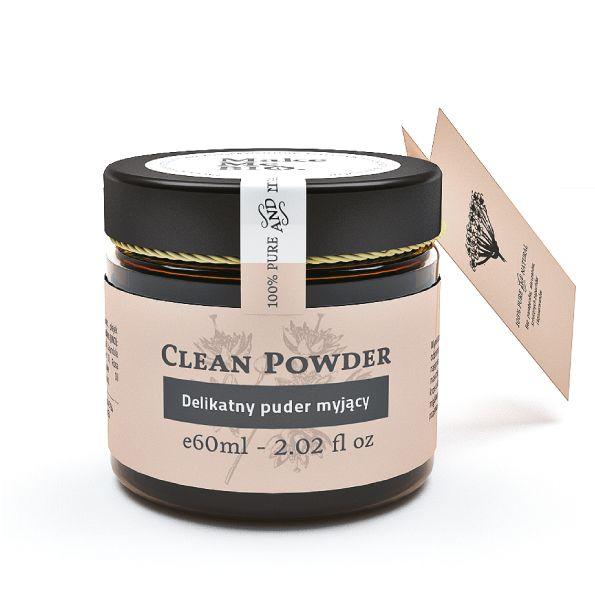 Delikatny puder myjący z olejkiem różanym i białą glinką. Naturalne oczyszczanie twarzy dla każdego.