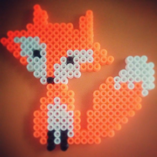 Fox hama perler by linelalalala