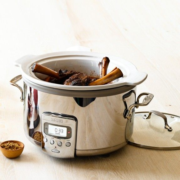 All-Clad Ceramic Slow Cooker, 4-Qt. I am getting this and getting rid of 2 other ugly crock pots!!!  YAY