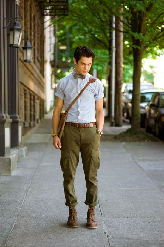 Owen on NW Davis Portland Oregon—army green and brown colour palette.