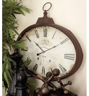 Rustic stopwatch clock for farmhouse inspired look. #affiliate #farmhouse #clock #rustic #homedecor #walldecor #decor