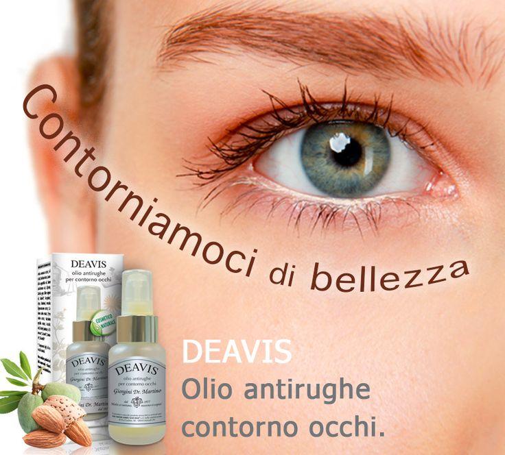 DEAVIS Dr. Giorgini - Cosmetico rigenerante e antirughe a bae di oli naturali, arricchito con coenzima Q10 e vitamine, ideale per la bellezza del contorno occhi. http://www.drgiorgini.it/index.php/serdeavis50-drg-deavis-50-ml