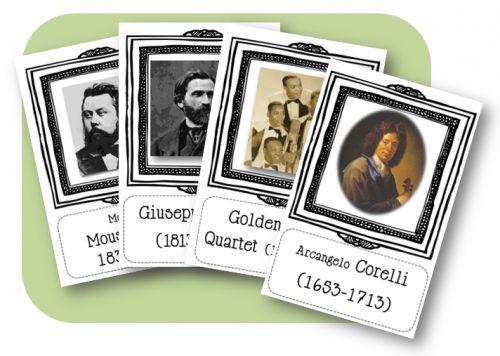 Affiches compositeurs pour la frise chronologique - haddock