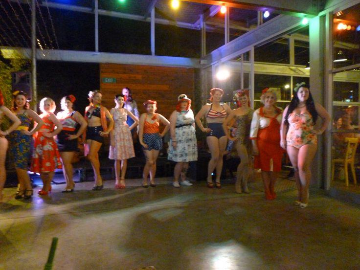 Pin Up Entrants for Miss Sou West Vintage Fest 2013. Clancys Fish Pub,Dunsborough,WA