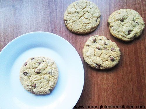 Gluten Free Chocolate Chip Cookies --- These cookies are super moist chewy on the outside and just damn yummy.