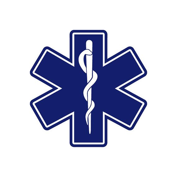 Ems Medic Symbol Rescue Star Of Life Emergency By