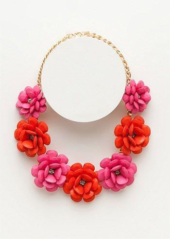 Plus Size Jewellery - Long Necklaces Online - A FLORAL BOUQUET NECKLACE - TS14