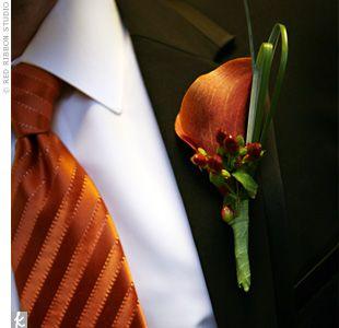 Autumn Wedding Theme - Groom's boutonniere