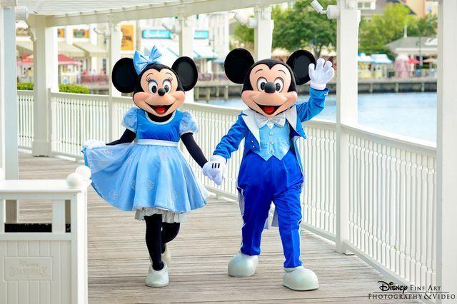 Mickey & Minnie coming up the boardwalk at Tokyo Disneyland Resort.