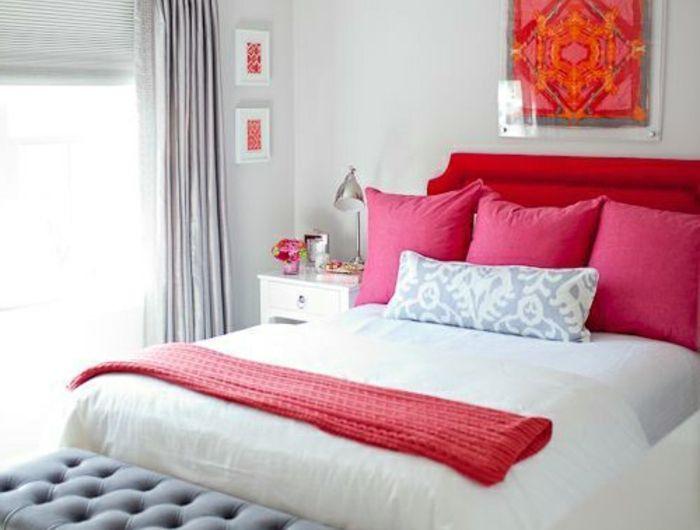 1001 conseils et id es pour une chambre en rose et gris sublime concombre pinterest t te. Black Bedroom Furniture Sets. Home Design Ideas