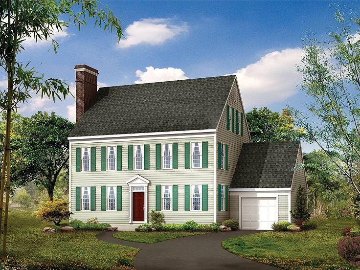 77 best Colonial House Plans images on Pinterest | Colonial house ...