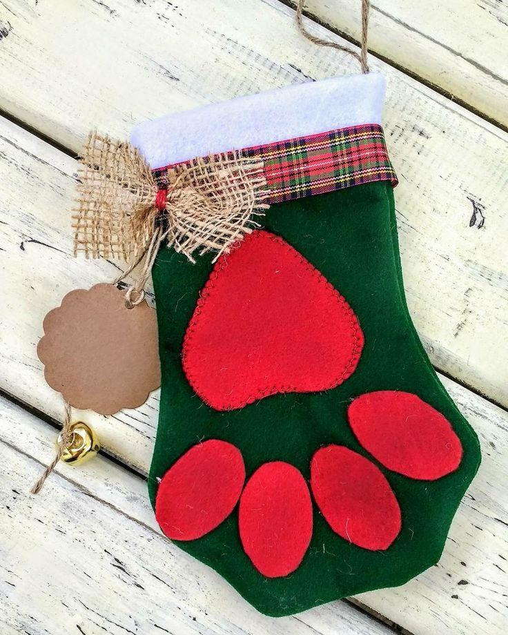 Patita decorativa navideña diseño Chicoca Deco #dogchristmasstocking