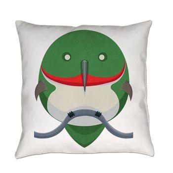 Cartoon Hummingbird Everyday Pillow from cafepress store: AG Painted Brush T-Shirts. #pillow #hummingbird #cartoon
