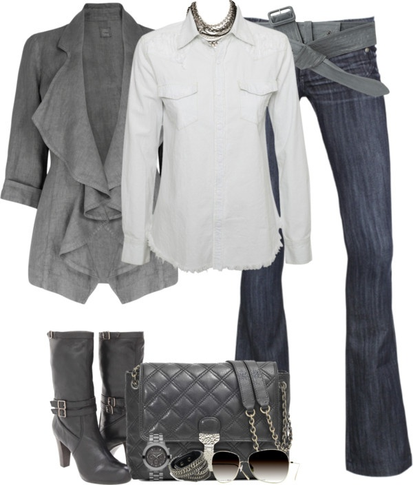 """Blue Steel"" by partywithgatsby ❤ liked on Polyvore: Fall Style, Casual Clothes, Dream Closet, Fashion Land, Blue Steel, Belt, Summer Jacket, Women'S Clothes"