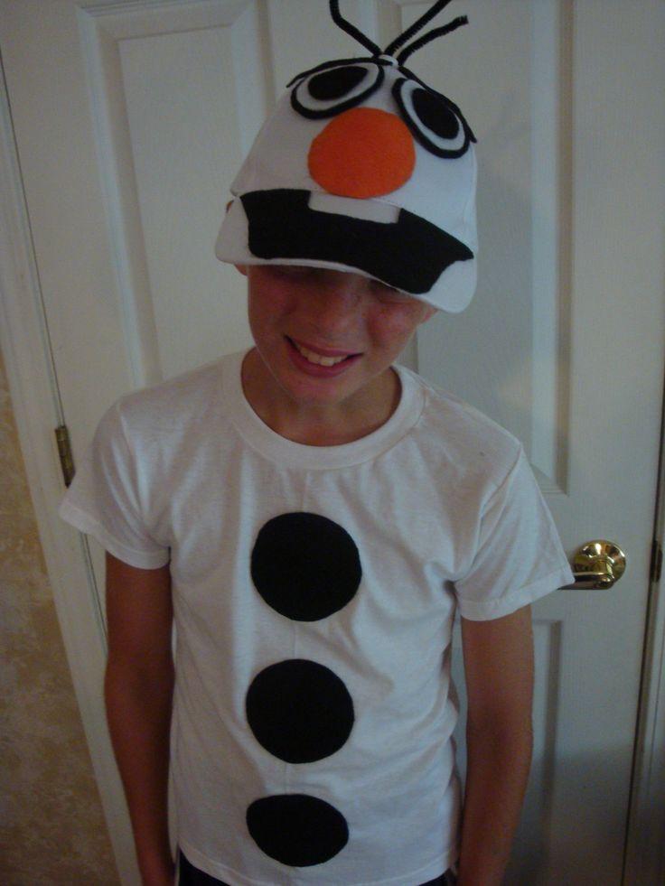 Olaf the Snowman Halloween Costume DIY Handmade Do It Yourself #olaf #halloween #costume