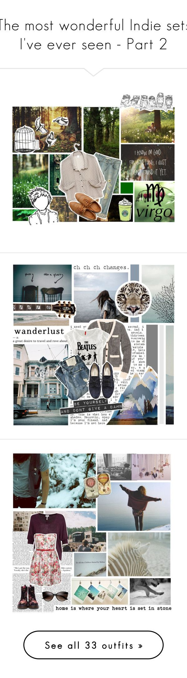 """""""The most wonderful Indie sets I've ever seen - Part 2"""" by mrsochrasy ❤ liked on Polyvore featuring PLANT, INDIE HAIR, Ollio, boyfriend jeans, blouses, virgo, zodiac, edward sharpe and the magnetic zeros, oxfords and green"""