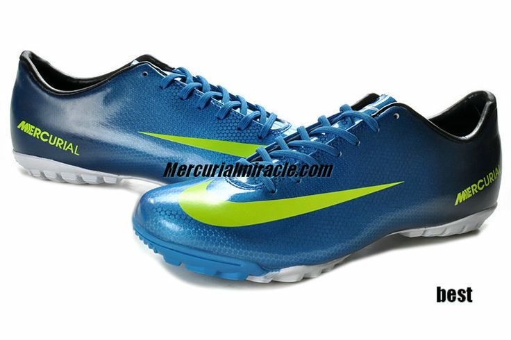 Cristiano Ronaldo Shoes 2013 Nike Mercurial Vapor 9 Turf Cleats - Blue Green White    #Blue #Womens #Sneakers