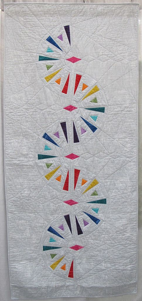 """Modern Dresden Quilt by Lori Landenburger. Entry for QuiltCon 2016 """"Triangle Quilt Challenge"""""""